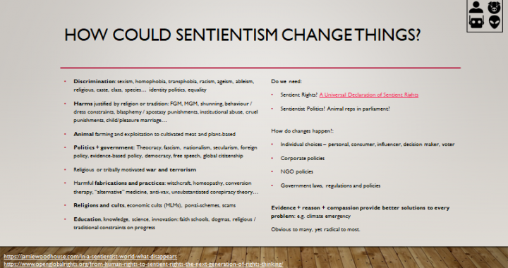 How could sentientism change things?