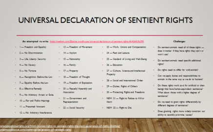 Universal Declaration of Sentient Rights